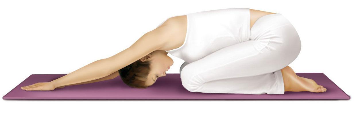 yoga's child's (or restorative) pose