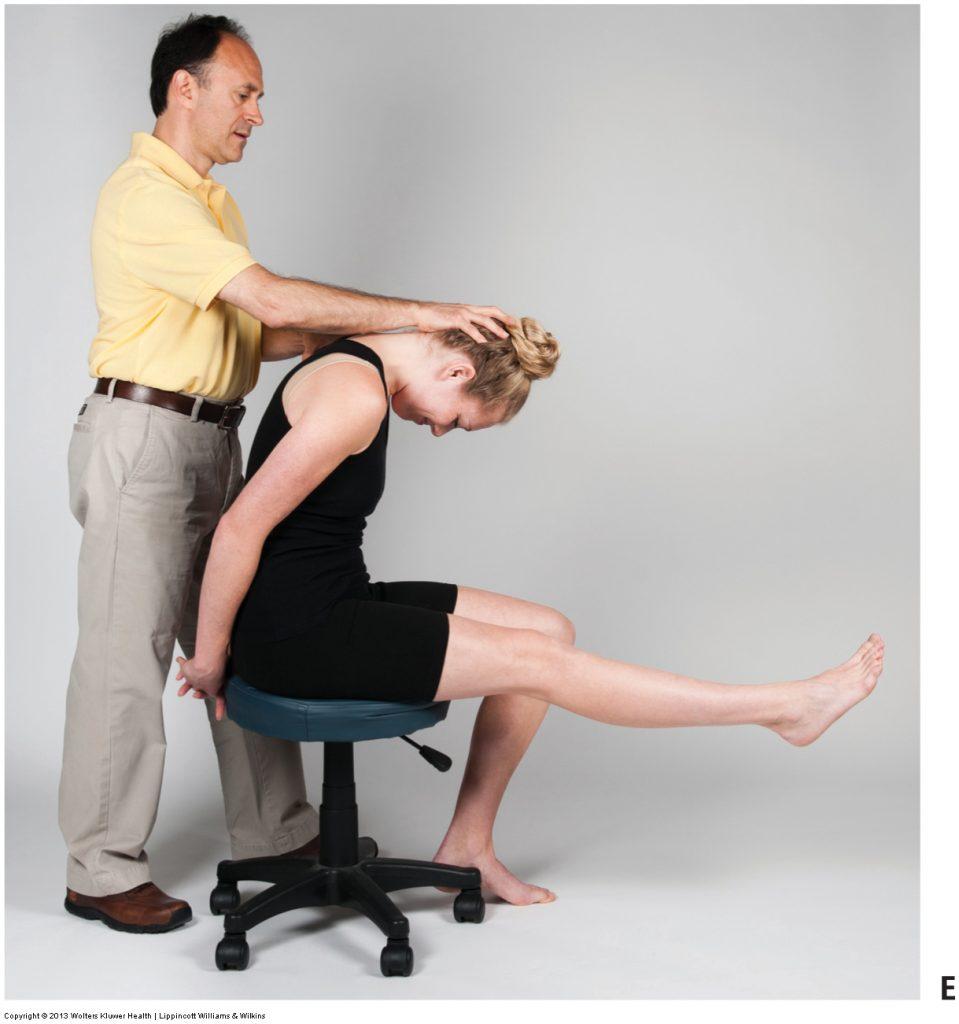 Slump orthopedic assessment test